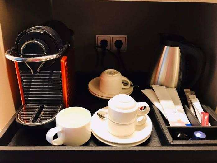 In room coffemachine, Berlin Hotel