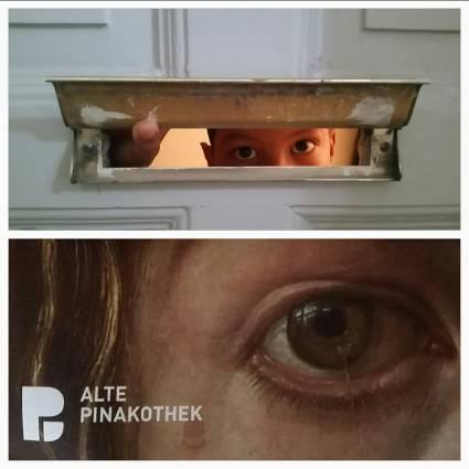 Top: Mailslot in Munich, Bottom: Vermeer, close up