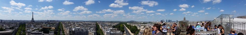 Paris, from atop Arc de Triomphe